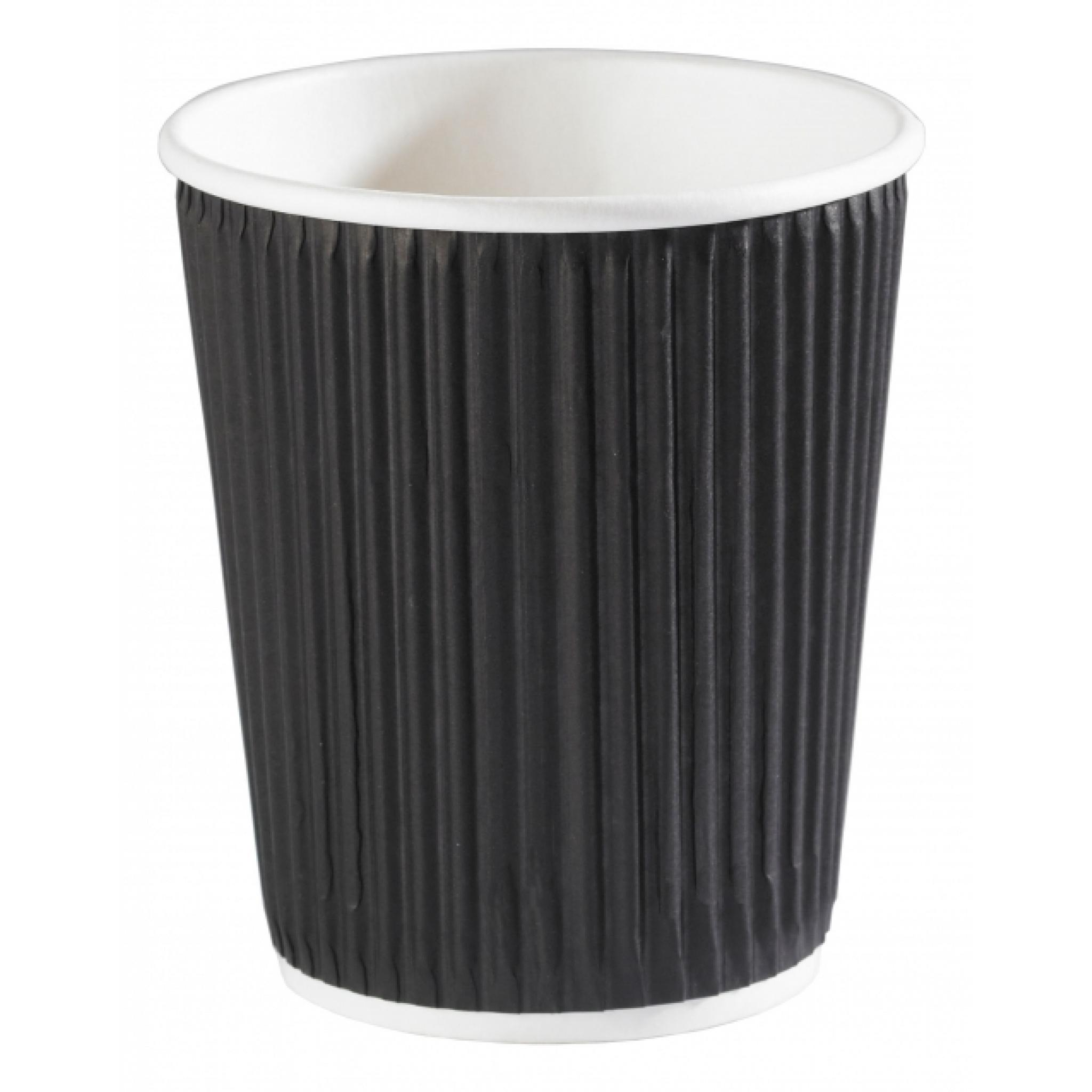 8oz Kraft Insulated Ripple Hot Drink Paper Coffee Cup