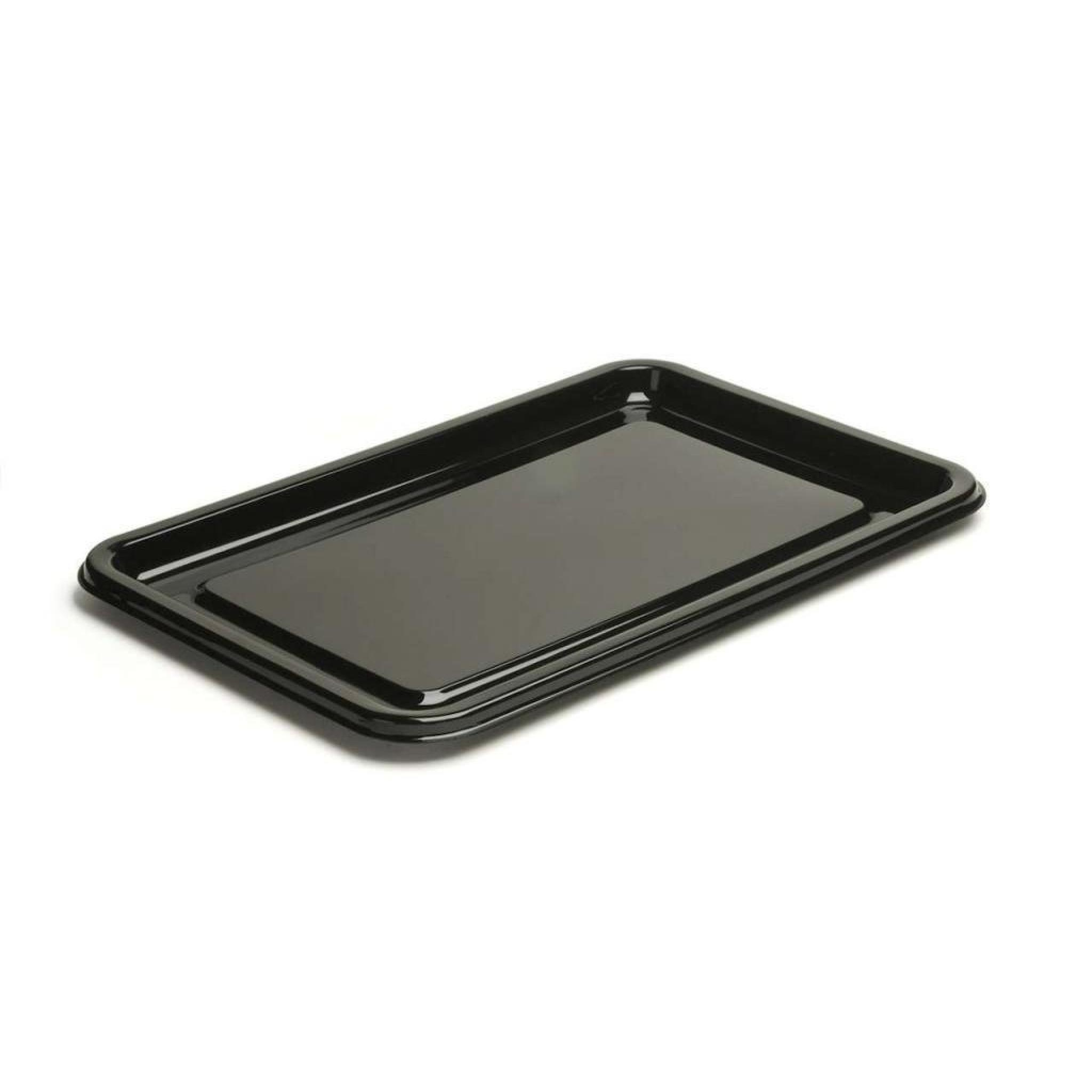 Incredible Sabert Small Black Plastic Rectangle Serving Buffet Platters 35X24Cm Thali Outlet Interior Design Ideas Clesiryabchikinfo