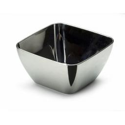 Mozaik Sabert Small Silver Plastic 5.7cm Tasting Appetiser Bowls - Strong Disposable or Reusable