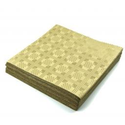 Gold Disposable Paper Table Cover Cloth 90x88cm - 25 Sheets