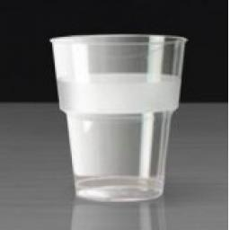 11oz Clear Plastic Strong Mixer Glasses Cups - Disposable Reusable