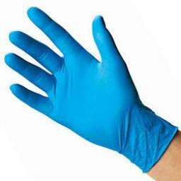 Blue Vinyl Powder Free Gloves Large 100 Pack - Examination / Food Safe / Single Use Only