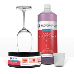 Proton Quash Intro Pack - Lipstick Grease Remover Kit - 1 x 500ml Concentrate Quash, 1 x Sponge / Cup / Dish