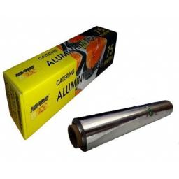Aluminium Kitchen Catering Foil 300mm x 75m with inbuilt Cutter - Catering Size