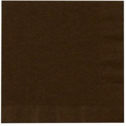 Chocolate Brown Paper Napkins 2 Ply 33cm 4 Fold Tissue Serviettes