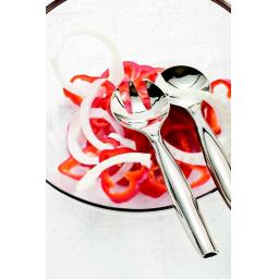 Sabert Mozaik Silver Plastic Salad Spoon + Fork Set Metallised Reusable Disposable Cutlery