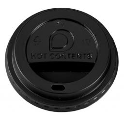 Black Sip-Though Lids Fits 8oz Paper Coffee Cups Disposable