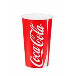 Coke / Coca Cola Paper Cups 12oz / 300ml for Fast Food Cold Soft Fizzy Drinks