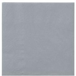Grey Paper Napkins 2 Ply 33cm 4 Fold Tissue Serviettes