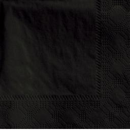 Black Paper Napkins 3 Ply 40cm 4 Fold Tissue Serviettes
