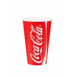 Coke / Coca Cola Paper Cups 9oz / 250ml for Fast Food Cold Soft Fizzy Drinks