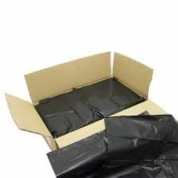 "Heavy Duty Black Refuse Sacks Bin Liner Bags / Size 18"" x 29"" x 39"" / - 160 Gauge"