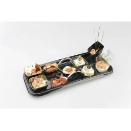 Mozaik Sabert Small Black Plastic 5.7cm Tasting Appetiser Bowls - Strong Disposable or Reusable