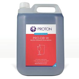 Proton Pro-Dri W Machine Glass Wash Rinse Additive - 5L