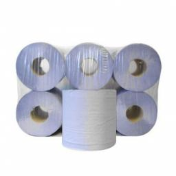 Blue Center feed Rolls Hand Paper Towels 2 Ply 100m - 6 Pack