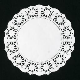 "5.5"" White Paper Doilies - 14cm Round Lace Doyleys"