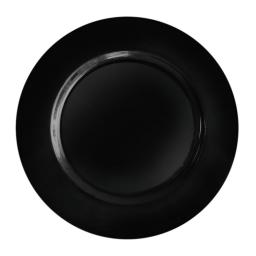 "Black 9"" Mozaik Strong Reusable Hard Plastic Dinner Plates 23cm"