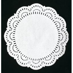"6.5"" White Paper Doilies - 17cm Round Lace Doyleys"