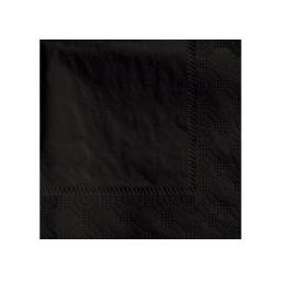 Black Paper Napkins 2 Ply 25cm Cocktail 4 Fold Tissue Serviettes