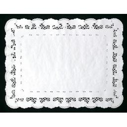 White No 1 Rectangular Doilies Doyle's Tray papers 20x30cm Lace Border