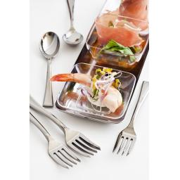 Sabert Mozaik 10cm Silver Plastic Mini Cocktail Spoons Metallised Reusable Disposable Cutlery