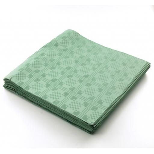 Green Disposable Paper Table Cover Cloth 90x88cm - 25 Sheets