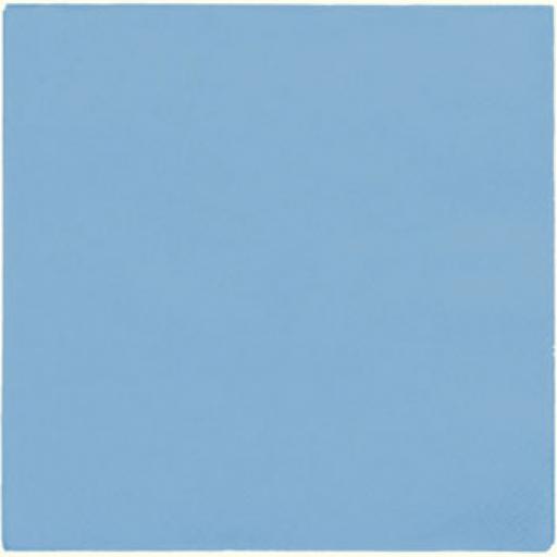 Baby Blue Paper Napkins 2 Ply 33cm 4 Fold Tissue Serviettes