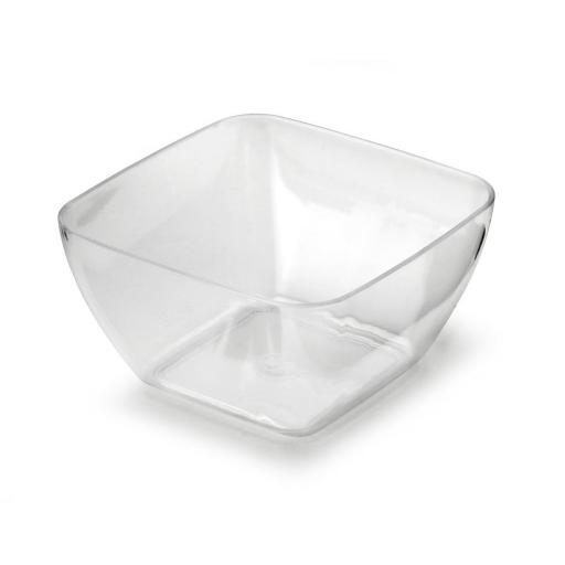 Mozaik Sabert Small Clear Plastic 5.7cm Tasting Appetiser Bowls - Strong Disposable or Reusable