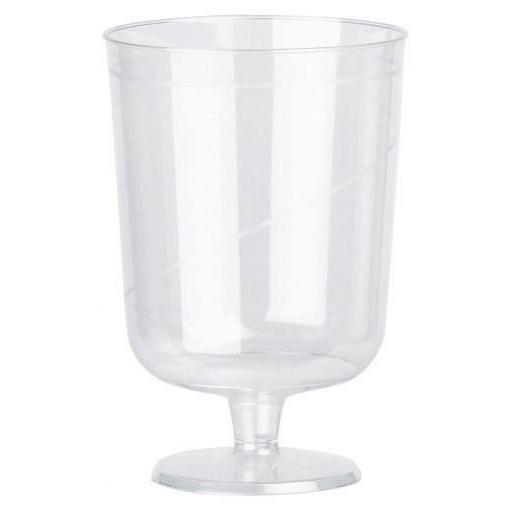 8oz Stem Wine Goblets Disposable Clear Plastic - Juice Soft Drink Cups Glasses