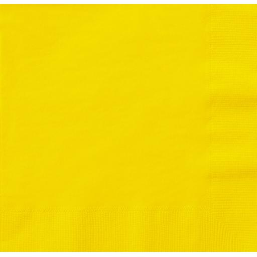 Yellow Paper Napkins 2 Ply 33cm 4 Fold Tissue Serviettes
