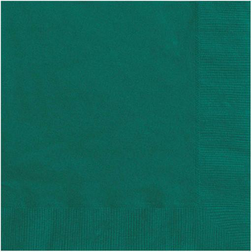 Deep Green Paper Napkins 2 Ply 33cm 4 Fold Tissue Serviettes
