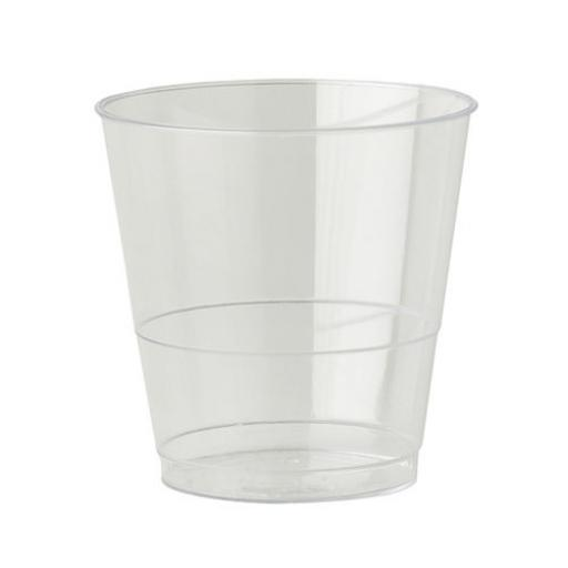 8oz Clear Plastic Strong Mixer Glasses Cups Disposable - Juice Wine Whisky