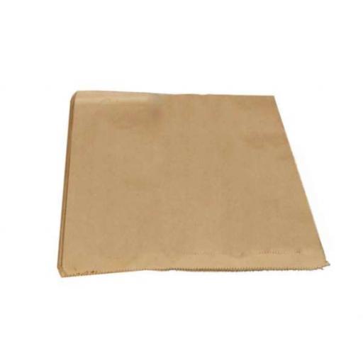 "1000 x Kraft Brown Paper Bags 8.5"" x 8.5"" Strung Food Bags"