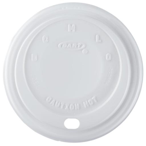 Dart White Sip Lids 10oz Cappuccino For Disposable Foam Polystyrene Cups - Tea Coffee -10EL