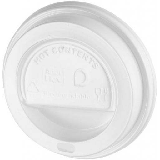 White Sip-Though Lids Fits 8oz Paper Cups Disposable