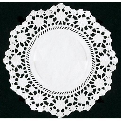 "4.5"" White Paper Doilies - 11cm Round Lace Doyleys"