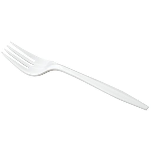 Economy White Plastic Forks Cutlery Disposable Reusable