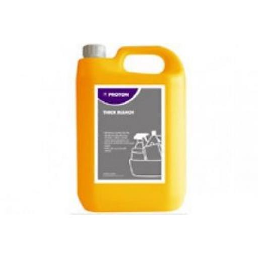 Proton Thick Bleach 5% Hypochlorite For Commercial Industrial Catering Takeaway 5L