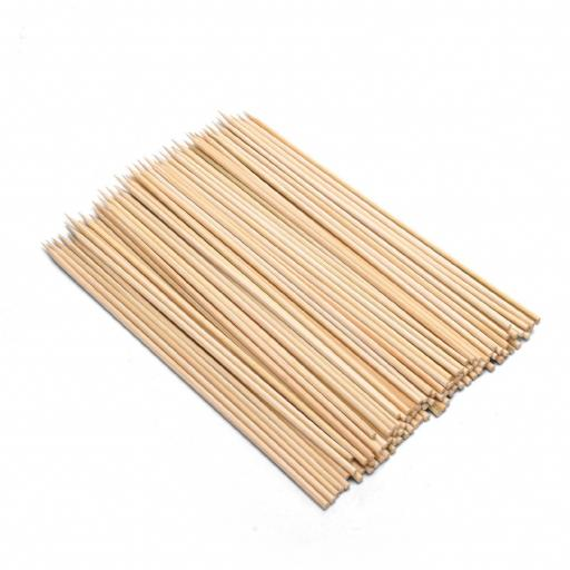 "Wooden Skewers 230mm 9"" Biodegradable Disposable High Quality"