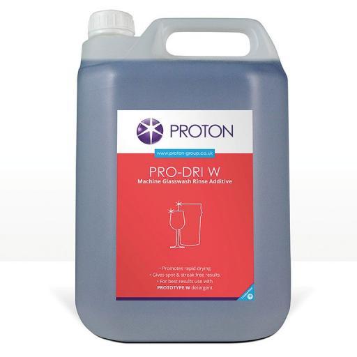 Proton Pro-Dri W Machine Glass Wash Rinse Additive - 5L