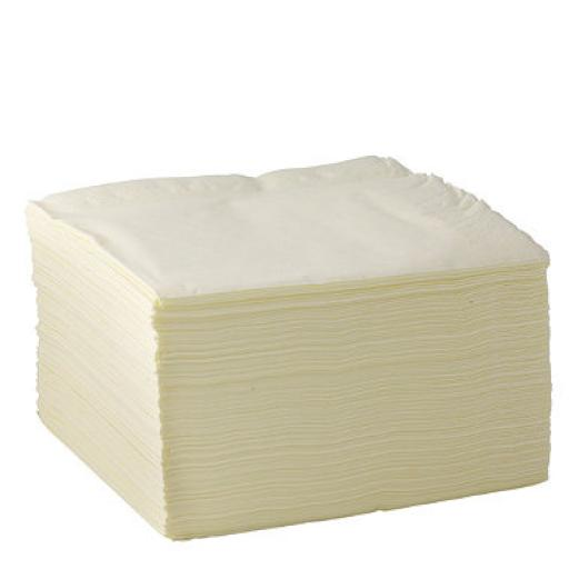Cream Paper Napkins 2 Ply 33cm 4 Fold Tissue Serviettes