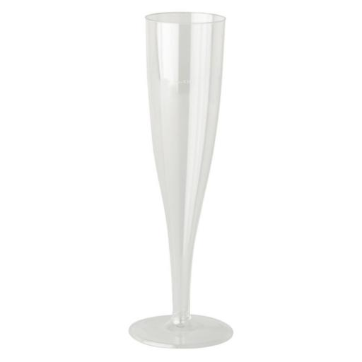 Clear Crystal Plastic 100ml Champagne Flutes Glasses Hard Strong - Disposable Reusable