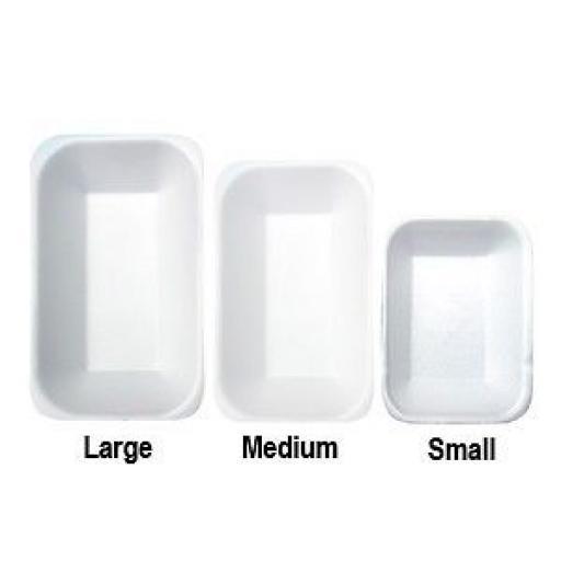 Linpac C3 Chippy Tray White Foam Polystyrene - Large