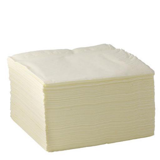 Cream Paper Napkins 3 Ply 40cm 4 Fold Tissue Serviettes
