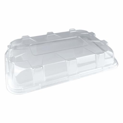 Sabert Large Lids for Black Plastic Rectangle Serving Buffet Platters - 55x37cm
