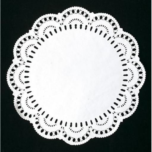"12"" White Paper Doilies - 31cm Round Lace Doyleys"