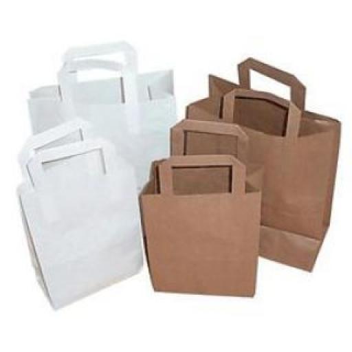 Paper - White Brown Kraft SOS Handle Bags