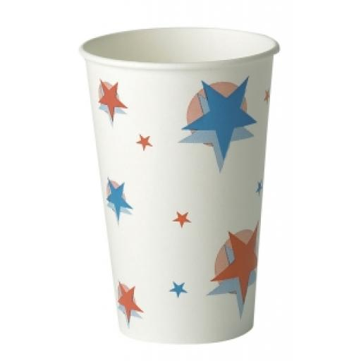 Star Ball Design Slush Paper Cups 16oz / 400ml for Fast Food Cold Soft Fizzy Drinks