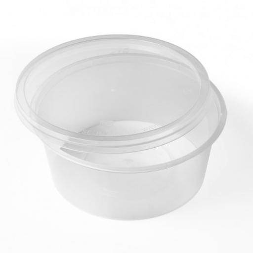 Round 12oz Microwave Clear Plastic Food Containers for Freezing Takeaway Hot Cold Foods