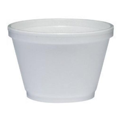 Dart Solo 6oz White Foam Polystyrene Food Container 6SJ12 - Hot Cold Food Takeaways
